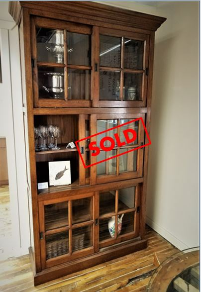 Artisan Style Bookcase - This Arts & Crafts bookcase is an unusual piece that provides character and great storage. Whether you use it for books, decorative items or dish & glass ware, you'll find that it can hold a great deal and look great.