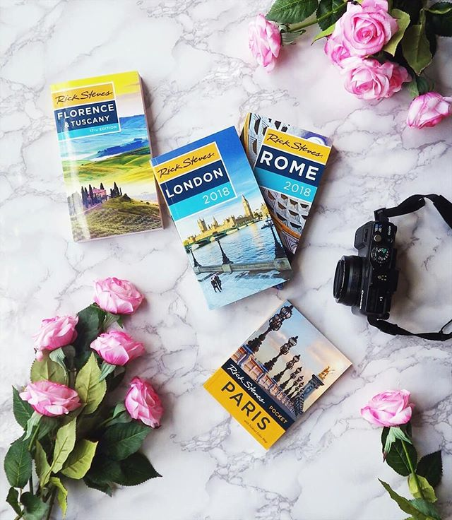 2018 Rick Steves @ricksteveseurope Books 📖 now available at Going In Style Travel Accessories at Stanford Shopping Center in Palo Alto, California. For everything you need to know when traveling the globe 🌎 . . . . . #travelbooks #travel #Europe #europeantravel #eutopeantraveler #travelgram #flatlay #marbleflatlay #rickstevestours #parisbook #londonbook #pinkroses #flowergram #flowerpower #camera #canoncamera #romebookstore #paloaltoca #stanfordshoppingcenter #stanfordmall #passport #europeanpassport #florence #flowergram #Tuscany #travelwithme #lovegoinginstyle