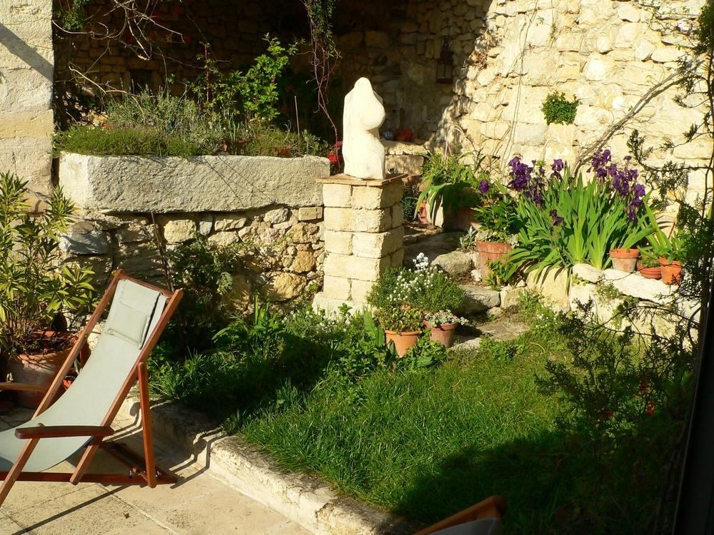 Terrasse Atelierwohnung, Boulbon,Provence, Kreativurlaub,
