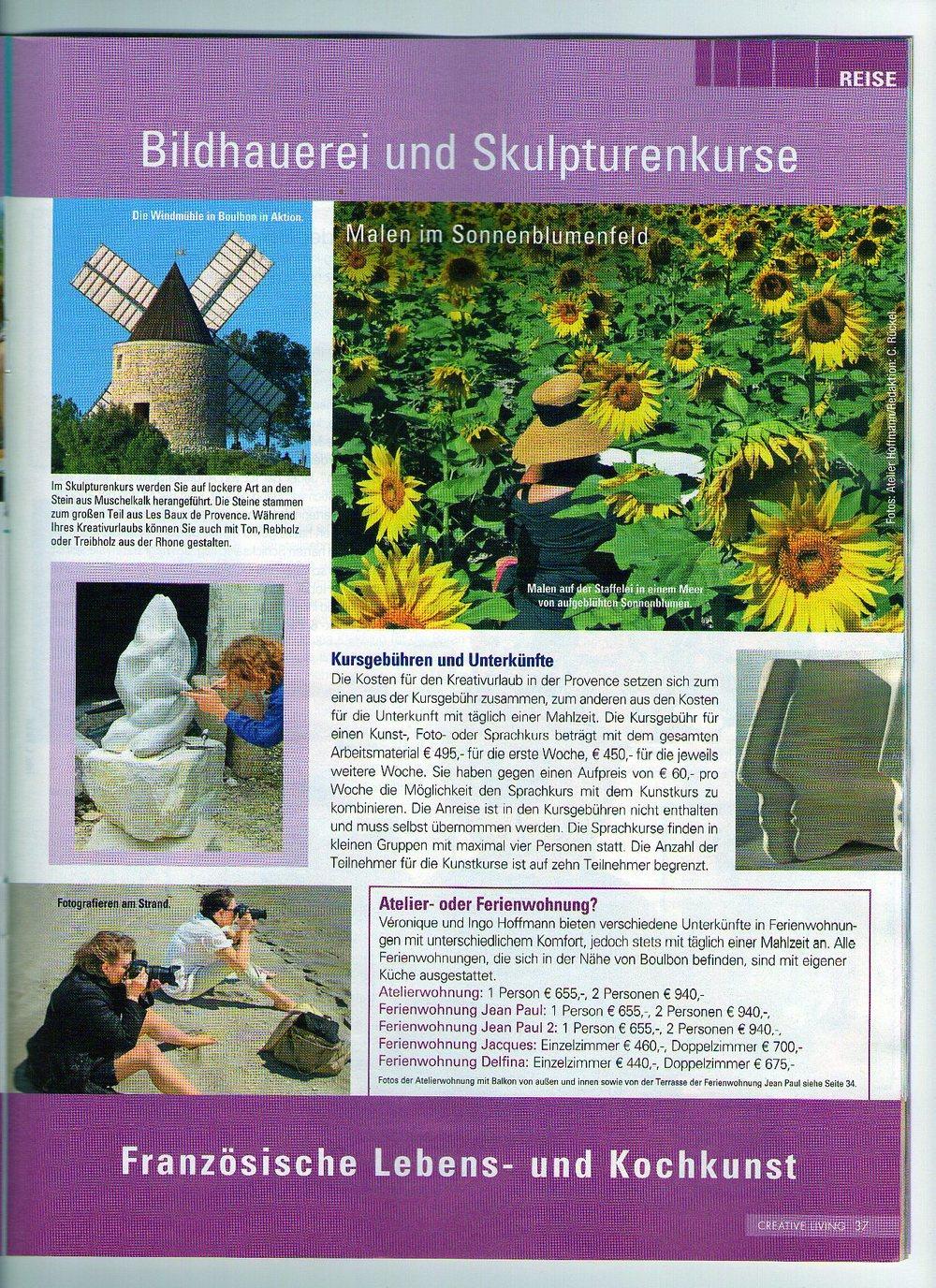 Bildhauerei und Skulpturenkurse, Provence, Kreativurlaub, Frankreich,