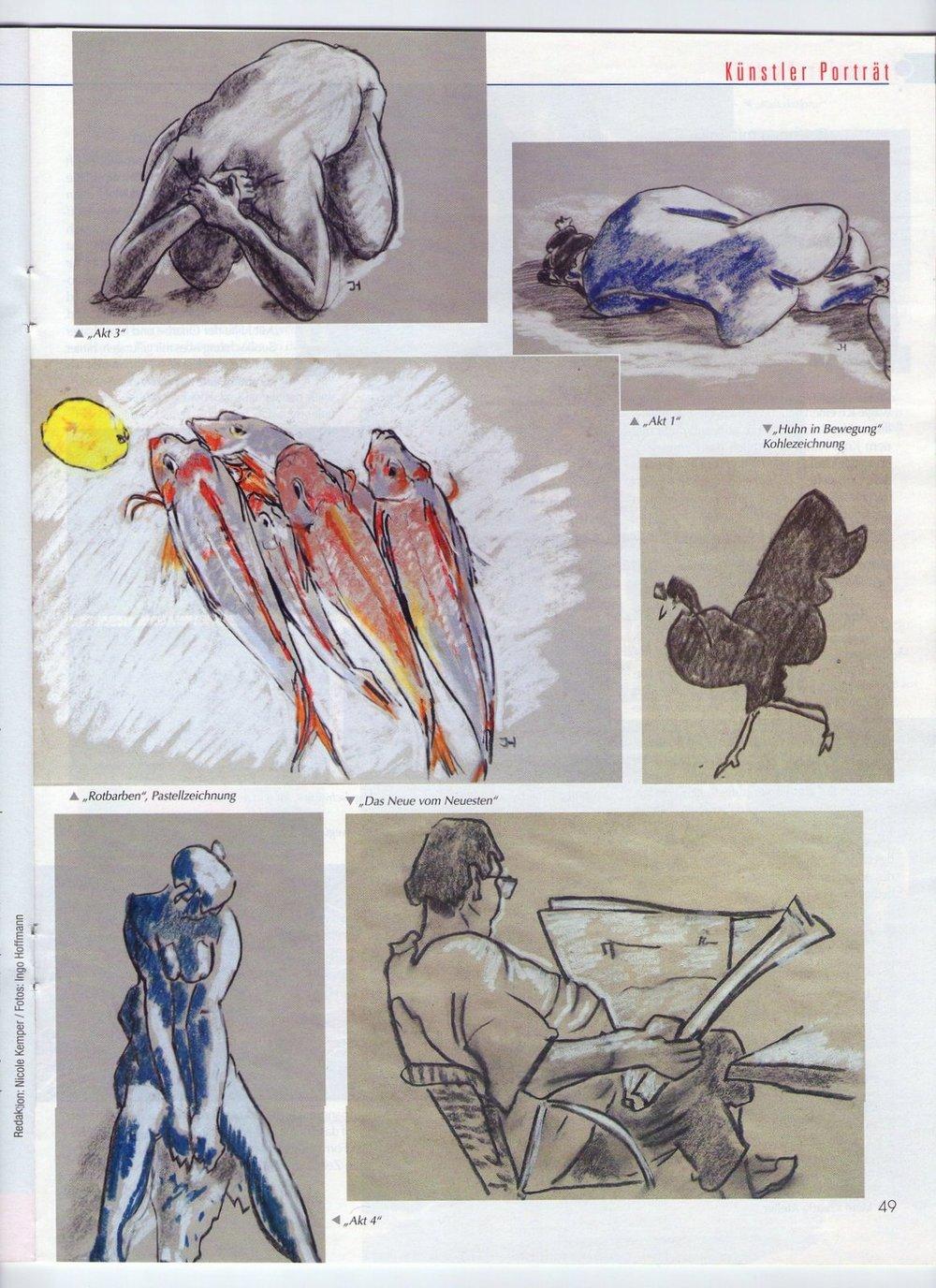 Zeichnungen, Kreativ Atlier, Ingo Hoffmann, Provence