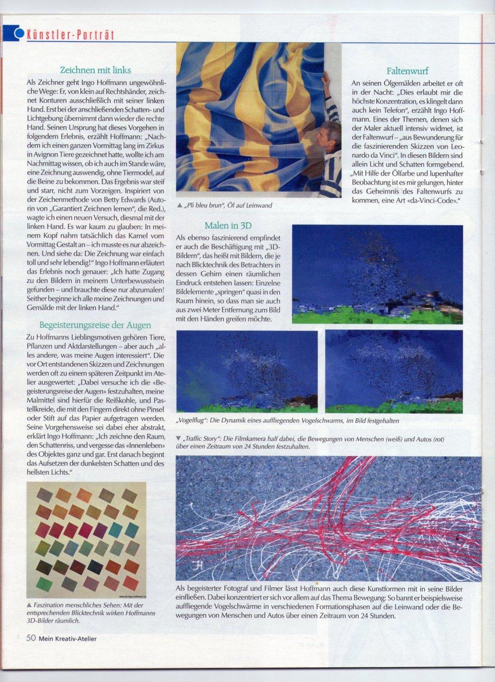 Kreativ Atlier, Künstler Ingo Hoffann, Provence, Atlier Boulbon,
