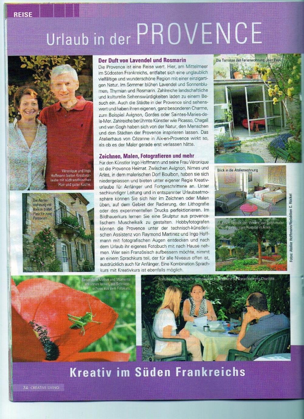 Urlaub in der Provence, kreativ im Süden Frankreichs,