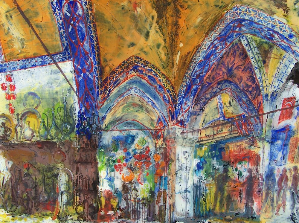 Grand Bazaar, Istanbul, oil on canvas, 90x120 cm
