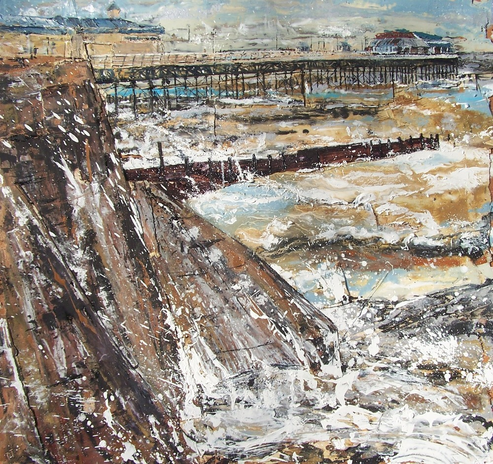 Cromer Pier 3, Oil on wood
