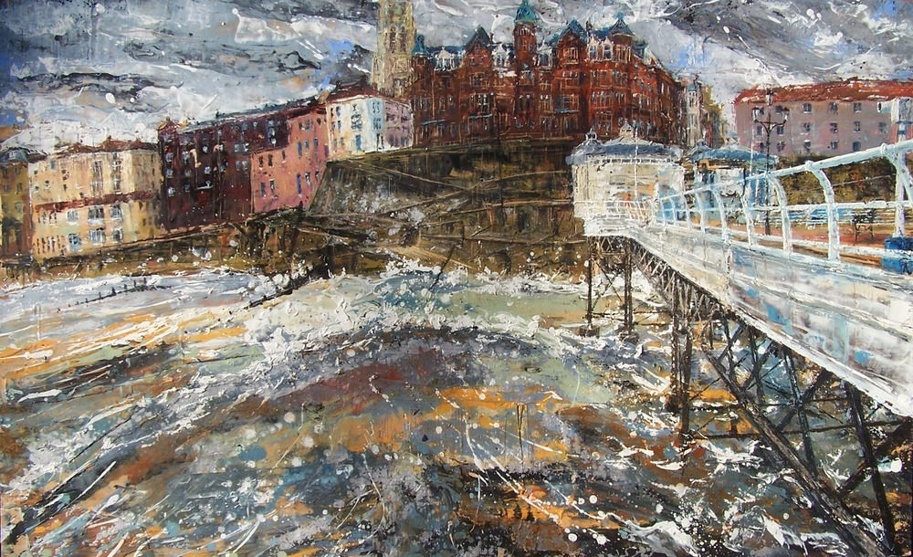 Cromer Pier 1, oil on wood