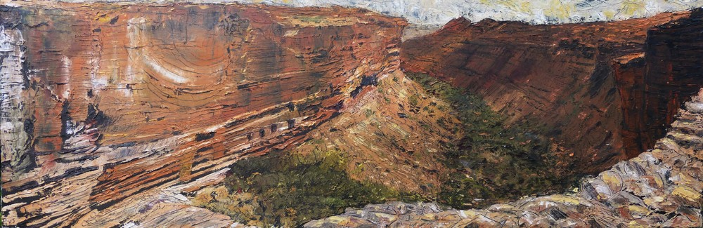 Kings Canyon, Australia. Oil on canvas