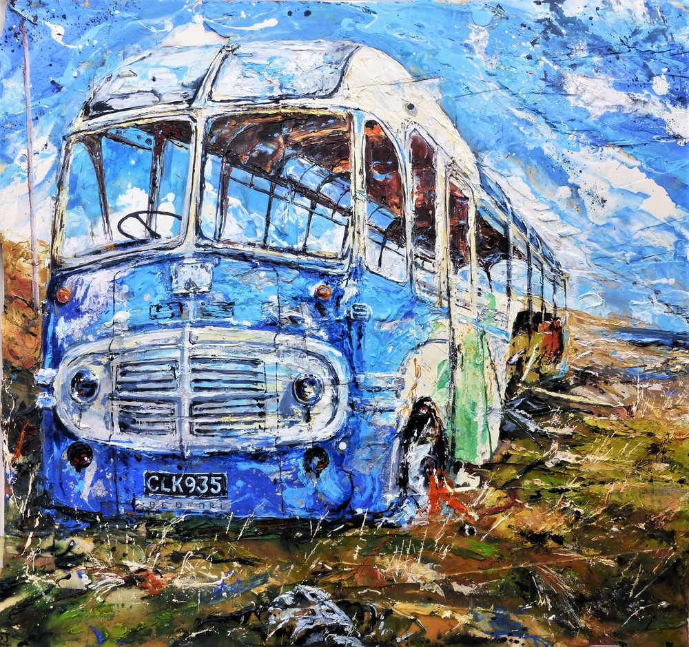 Abandoned Hoy Bus, Orkney Islands