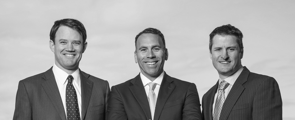 Privateer Holdings Partners (from left): CFO Michael Blue, COO Christian Groh and CEO Brendan Kennedy.