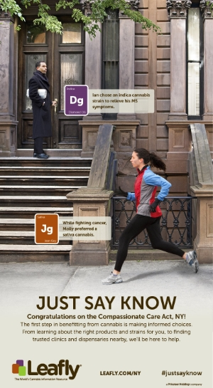 Leafly's historic New York Times ad was published in the summer of 2014 and generated hundreds of media hits.