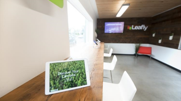 The interactive lounge marks Leafly's first-ever physical presence.