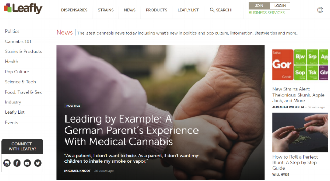 Leafly News is a hub to learn about any issue that might spark the curiosity of a cannabis consumer.