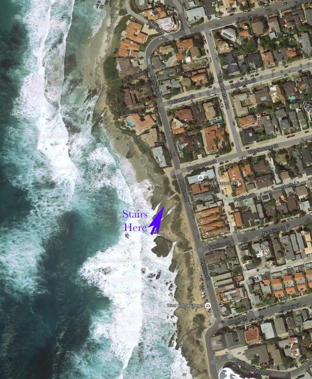 Windansea coastline area just south of downtown La Jolla, California.