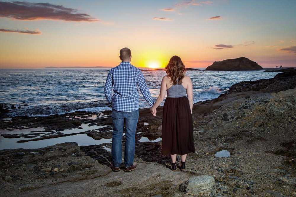 Another day at the office at Treasure Island.  This beautiful couple just got engaged and I am looking forward to sharing some photos from this perfect evening.  #Engagement #Sunset #engagementphotos # #LagunaBeach #TreasureIsland #OrangeCountyWeddingPhot