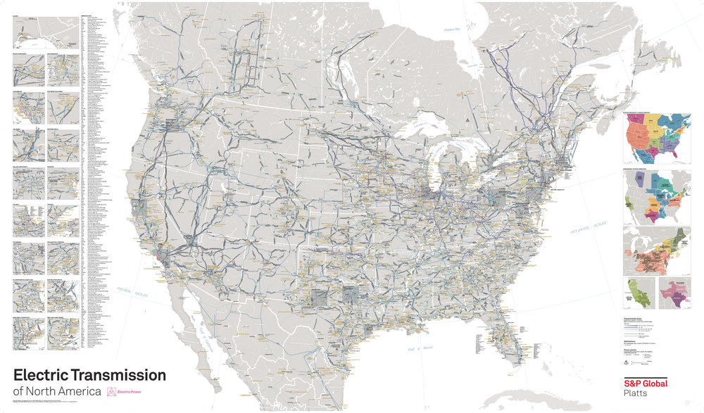 Electric Transmission System of North America