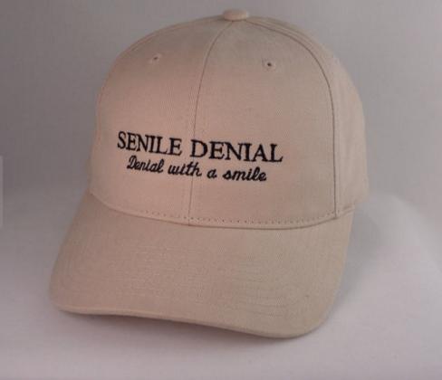 Senile Denial Hat, Etsy $25