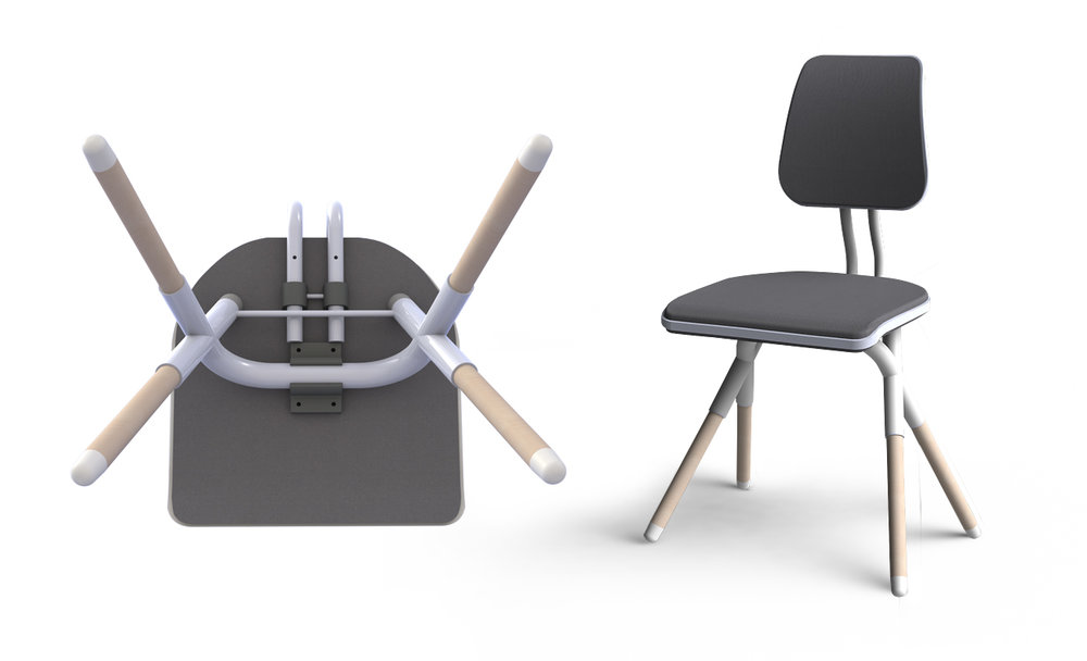 Soundproof school chair   Download my Bachelor thesis >