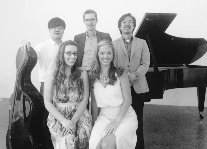 Singing Berg and Schoenberg with these talented musicians, Jonathan Tsay (piano), Evan Mitchell (Piano), Mia Detwiler (violin), and Dominic Kyungseu Na (cello).