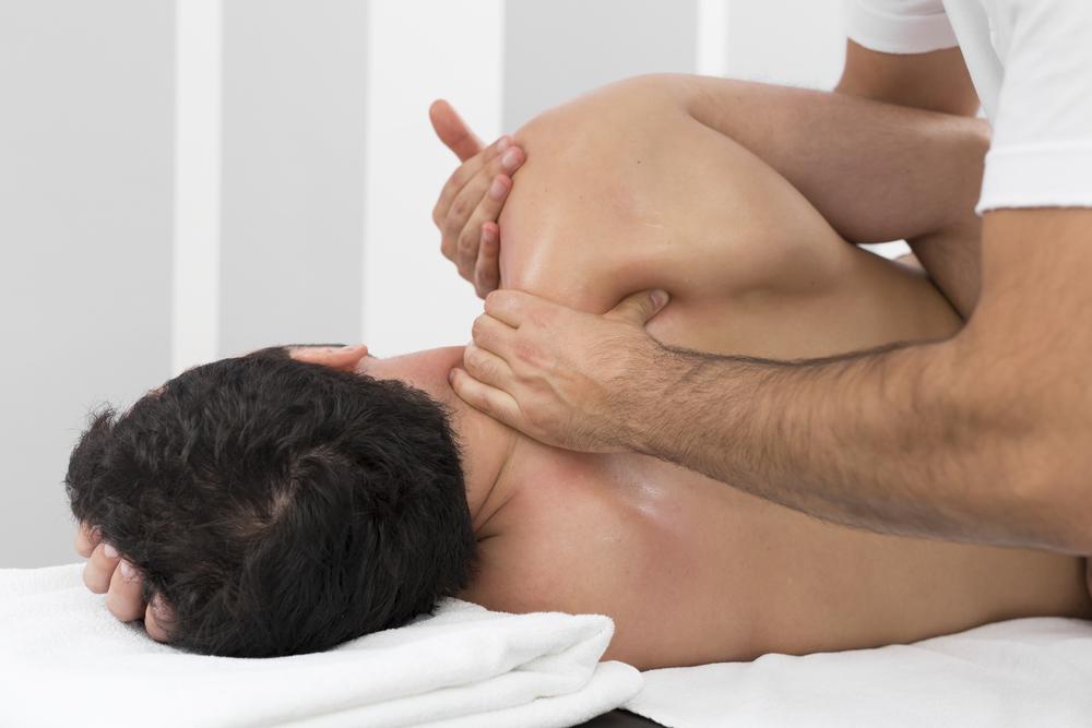 straight boy enjoys hard handed massage