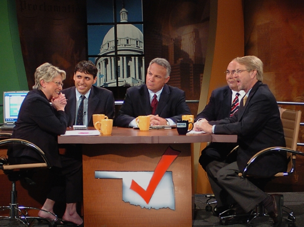 July 25, 2006: Guest panelist on Oklahoma public television election night coverage