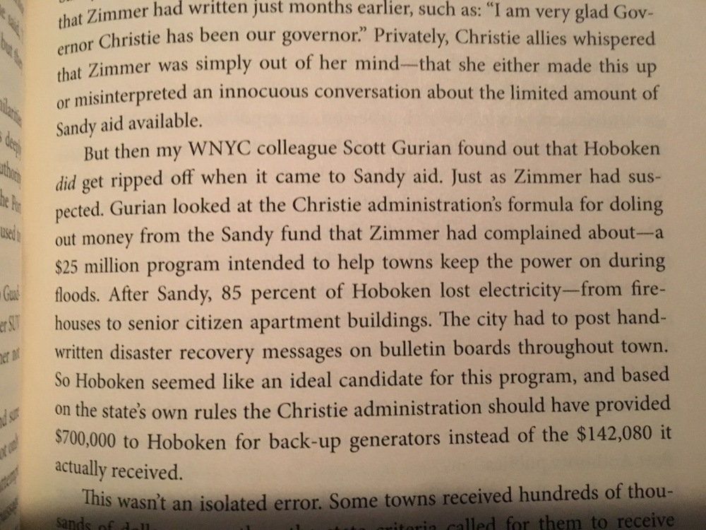 Mention of my reporting in my WNYC colleague Matt Katz's book,    American Governor: Chris Christie's Bridge to Redemption