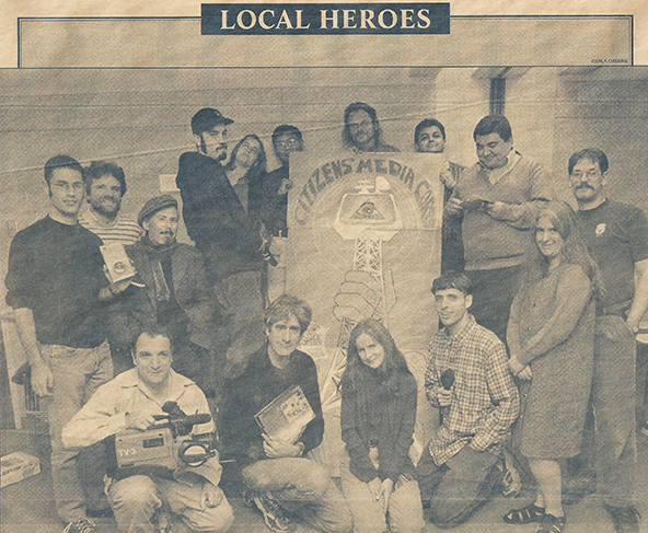 "Part of group profiled as ""Local Heroes"" in  The Boston Phoenix , November 5, 1999"