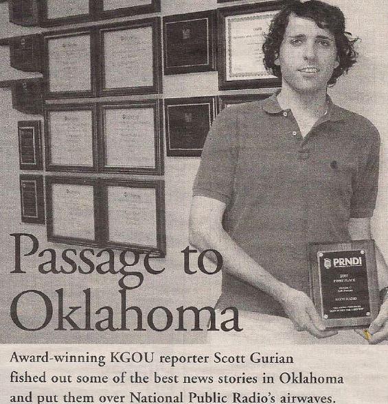 Profile in the  Oklahoma Gazette,  December 18, 2008