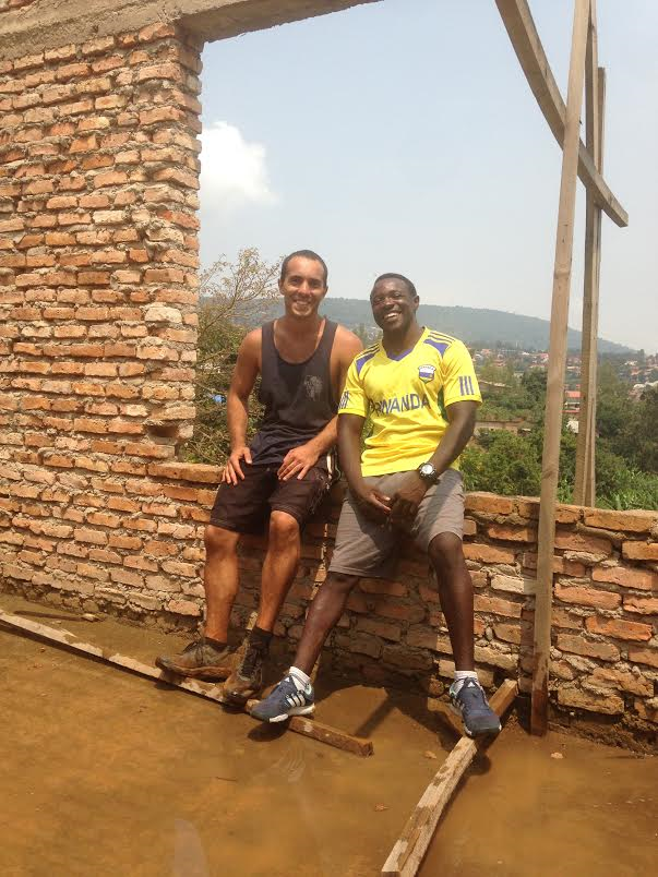 My best friend in Rwanda and the father figure for the boys is Evode. Here we are on the second floor dreaming of what's next.