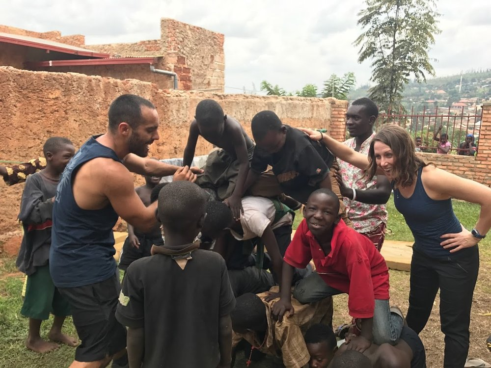 This was my attempt at a human pyramid with our outreach program. Two days a week we host local street kids that we aren't able to take in currently to still do our best to mentor them and at least give them a nice meal. We didn't get the picture of the finished product because... well we failed but luckily no one got hurt!