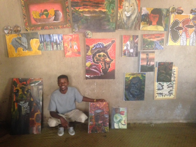 Tabaro and his paintings