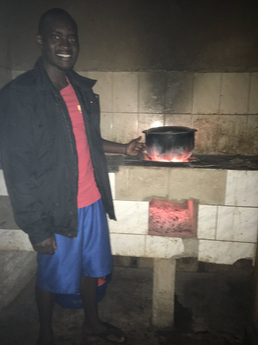 David shows off the boys' kitchen in use. That stove gets super hot and uses a lot less charcoal too.