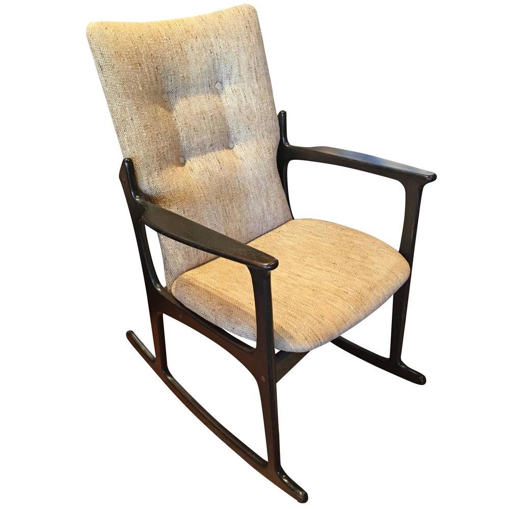 1960s Danish Rocking Chair By Vamdrup Stolefabrik