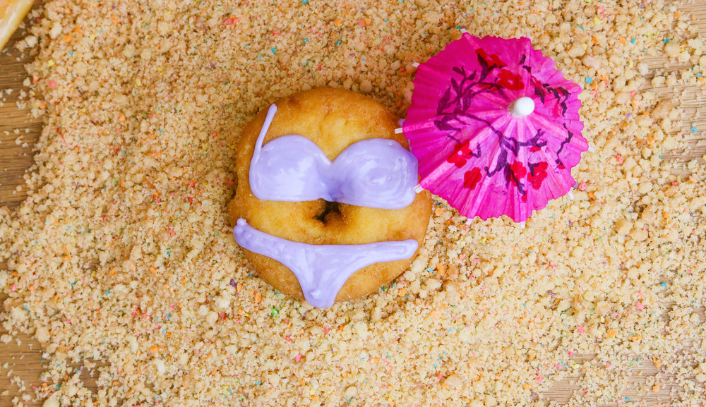 BIKIni time jellyhit the beach with a bikini jelly donut, there is NO jelly or filling in our donut but the style of donut is a jelly! grab your FAVORITE style today on your way to the beach!$2.50 // AVAILABLE BY 11 aM -