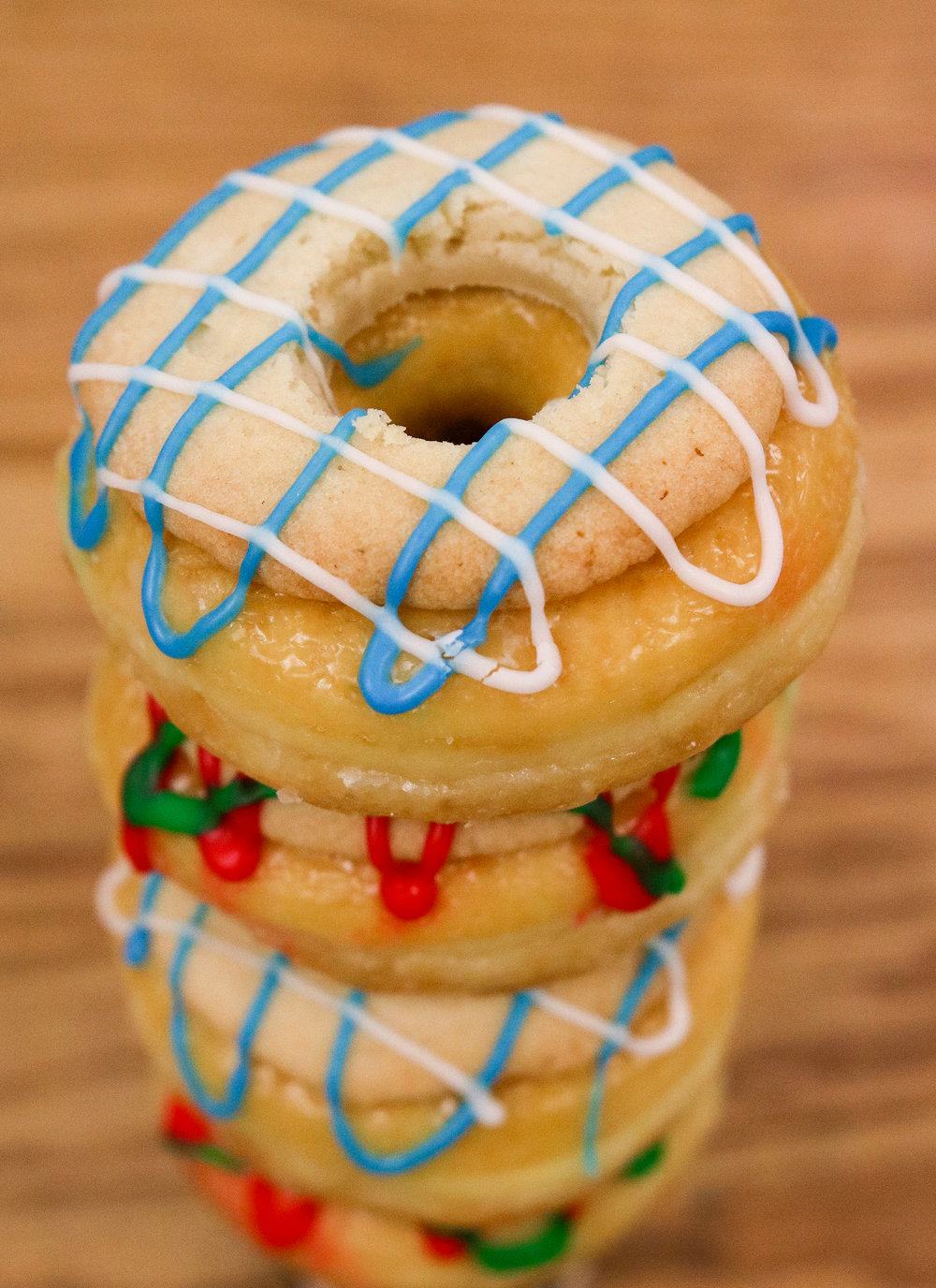SUGAR COOKIE HALOS - A RAISED GLAZE ADORNED WITH A SUGAR COOKIE, AND USED TO PERFECTION. LEAVE THIS OUT FOR OLE ST. NICK!$2.50 // AVAILABLE AT 11AM