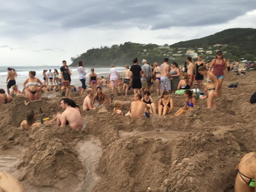 Big Thanks to Jub from  Tiki Touring Kiwi  for this image of Hot Water Beach in the daylight!