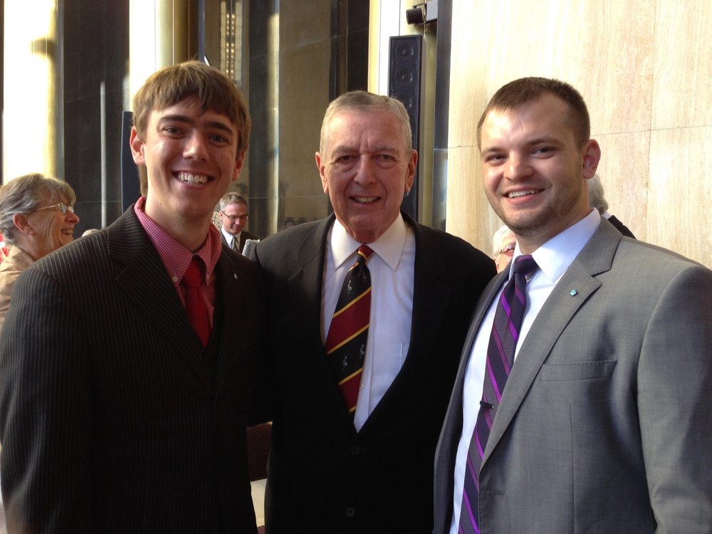 From Left to Right: NDRL Legislative Director Brock Schmeling, Former US Attorney General John Ashcroft, NDRL Executive Director Devyn Nelson.