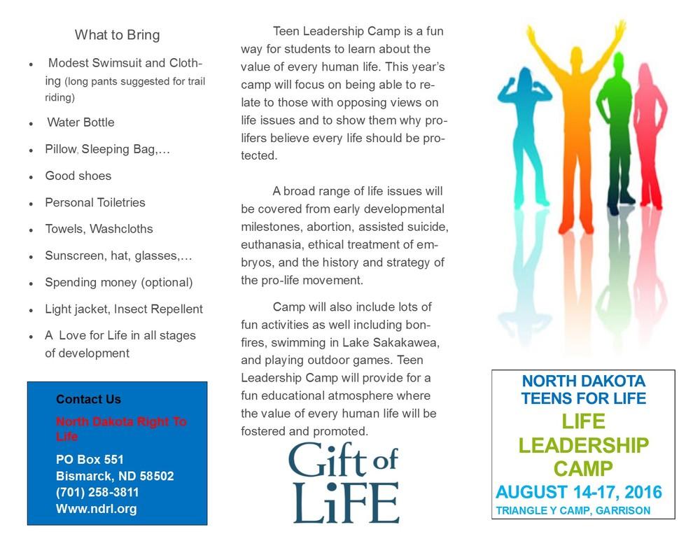 TFL Camp Brochure