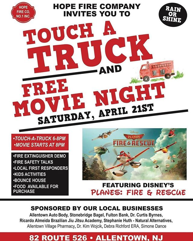 I have been quiet over here like usual!  Recently working on holding this event at our local volunteer fire station, where my husband is a volunteer.  We are so excited to be holding the second annual touch a truck and movie night at Hope Fire Company!!! #firstresponders #hopefirecompany #allentownnj #firefighterevent #localheros #njfiretrucks #njfirefighters #communityday