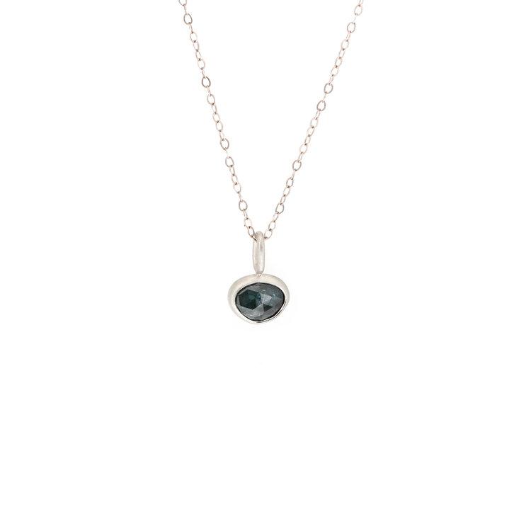 Organic green sapphire pendant april higashi jewelry organic green sapphire pendant aloadofball Image collections