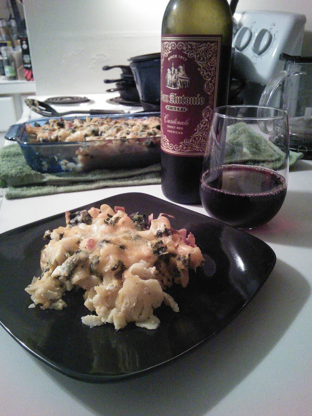 Enjoyed this dish along with my FAVORITE sweet red wine:)