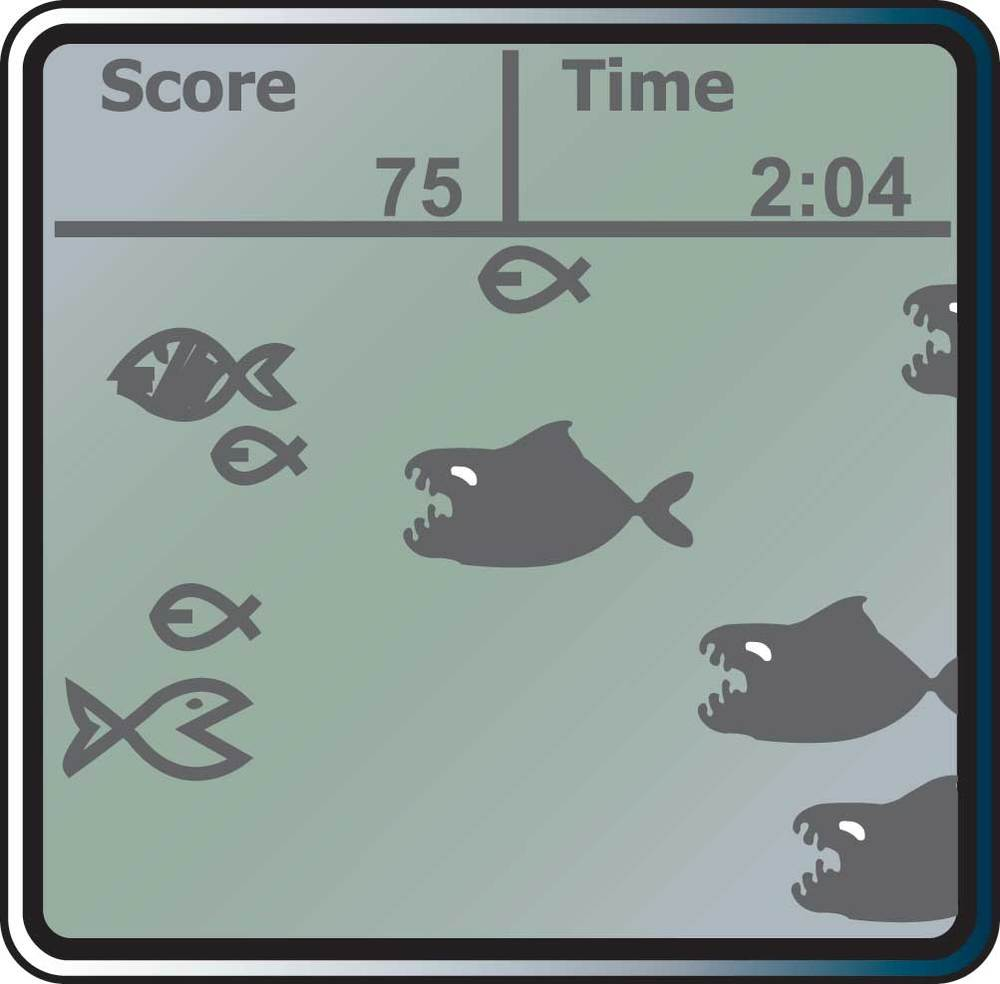 Weird fish game on rowing machine