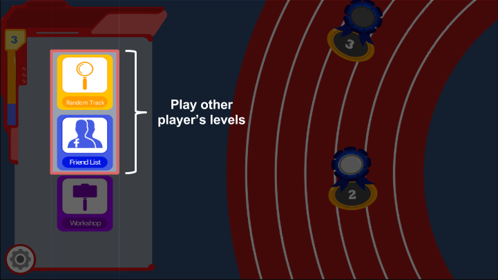 Play friend's and random player's levels