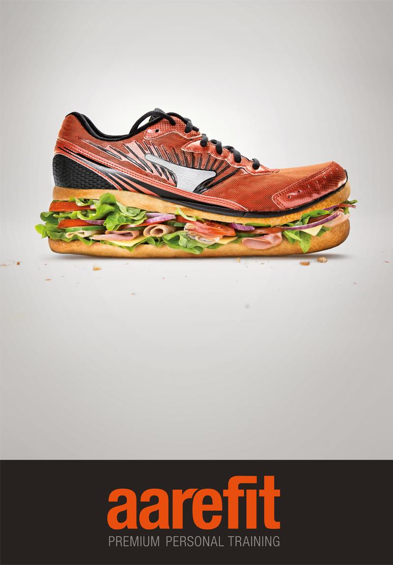 Corporate Design und Werbung für das Startup Sport-und Ernährungslabel Aarefit Bern