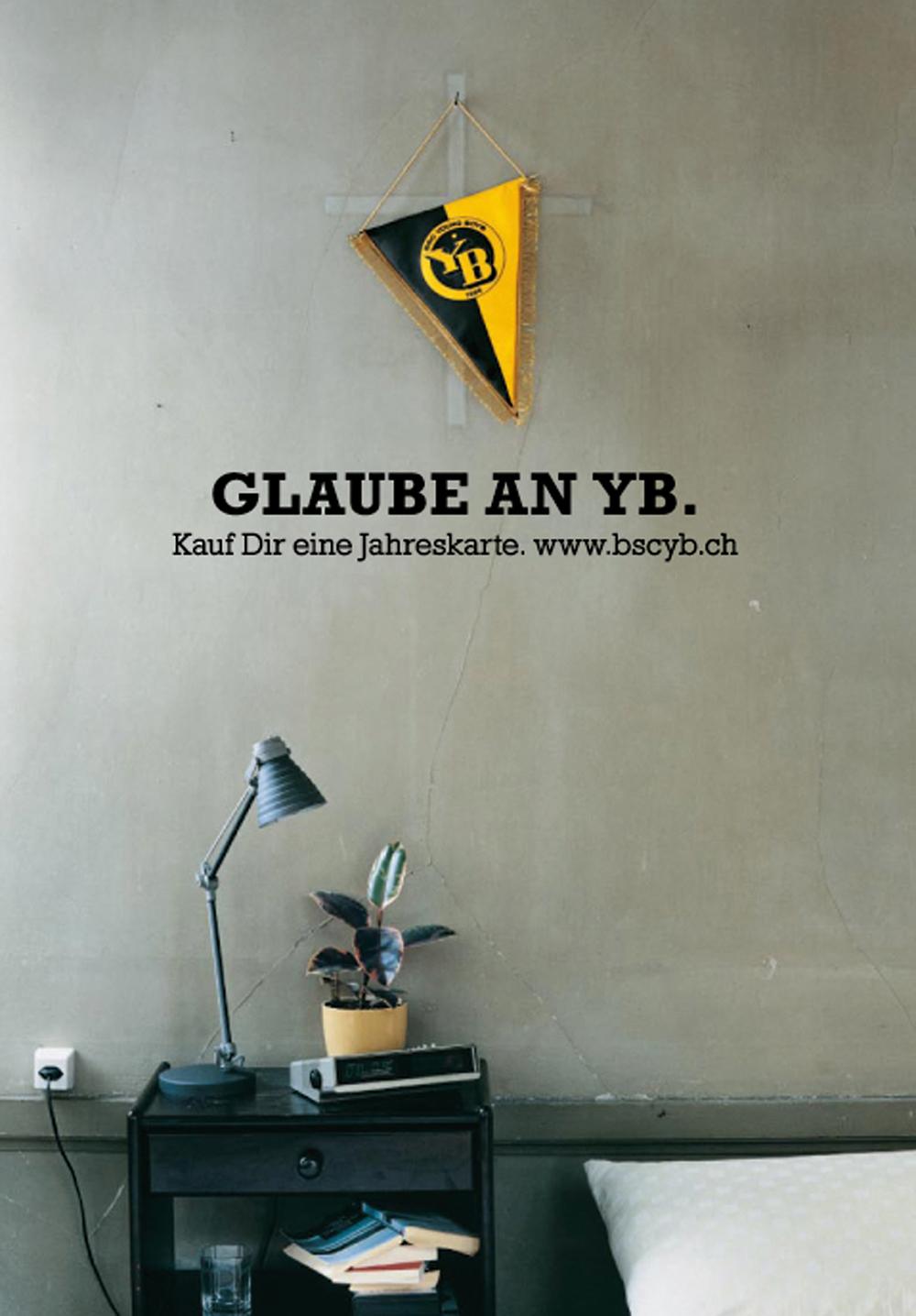 Art Direction und Grafik für dieYB Kampagne (Berner Fussballclub) für Freiburghaus & Partner AG Bern