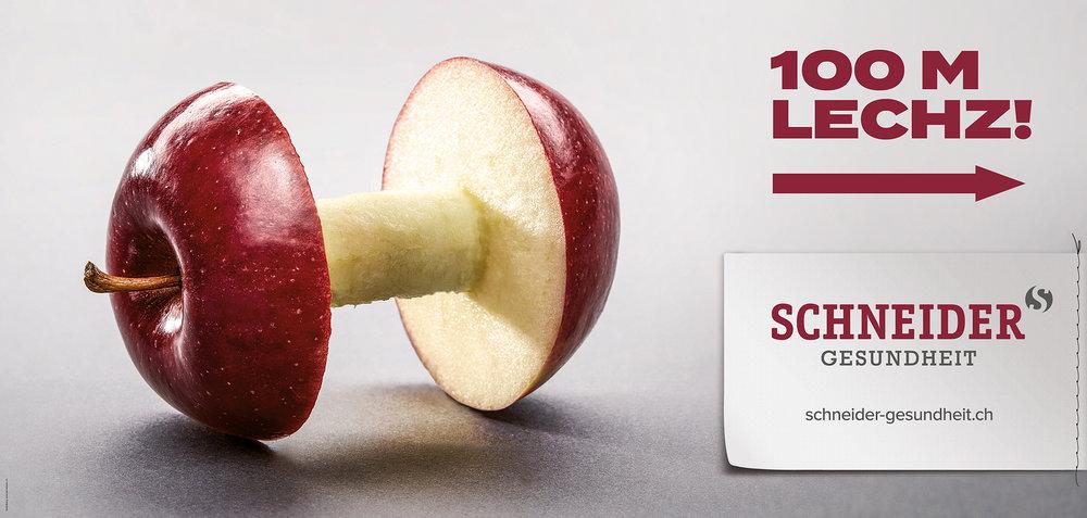 Schneider Gesundheit, F12 Plakat Kampagne
