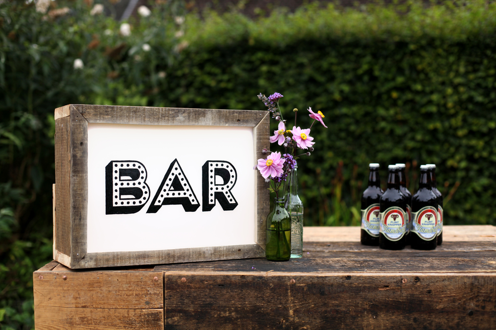 Wedding light-up signs for hire