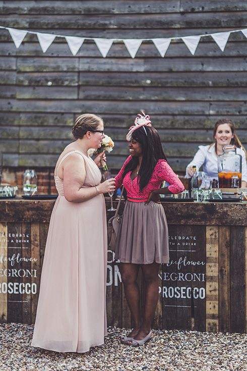 Bespoke rustic hand-painted wedding bars for hire