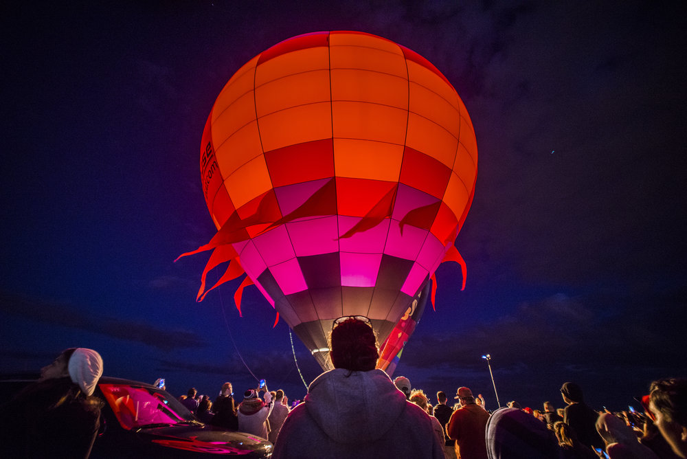 Balloons begins to rise as part of the Albuquerque International Balloon Fiesta's Dawn Patrol Saturday, Oct. 7, 2016 in Albuquerque, New Mexico.