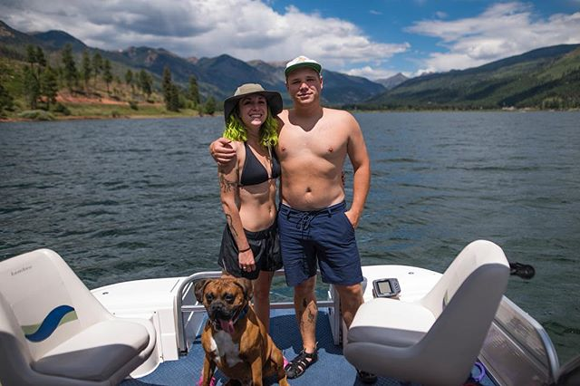 A nice picture of my girlfriend and I at Vallecito Lake. Of course Dani needed a dog in the photo.