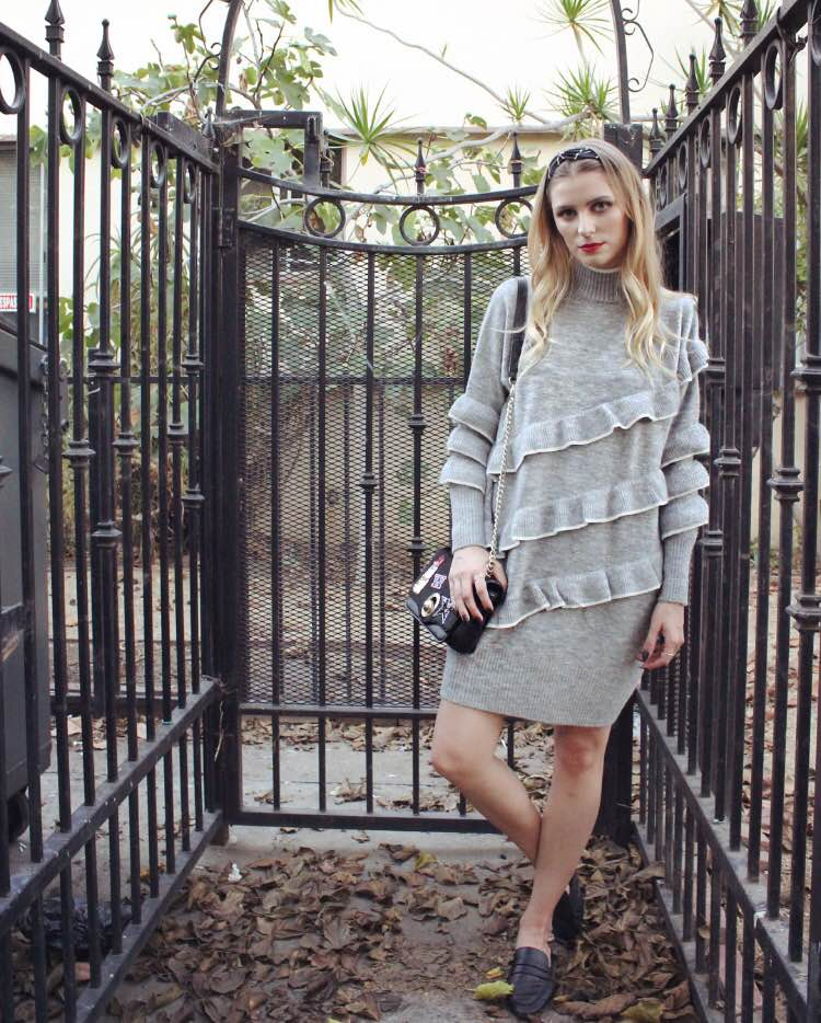 Dress: ASOS, Bag: Zara, Shoes: Zara, Headband: ASOS, Rings: ASOS